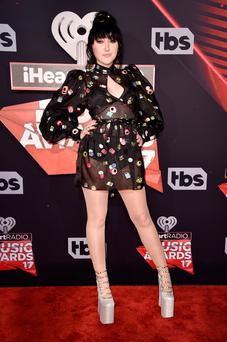 Singer Noah Cyrus attends the 2017 iHeartRadio Music Awards which broadcast live on Turner's TBS, TNT, and truTV at The Forum on March 5, 2017 in Inglewood, California. (Photo by Alberto E. Rodriguez/Getty Images)