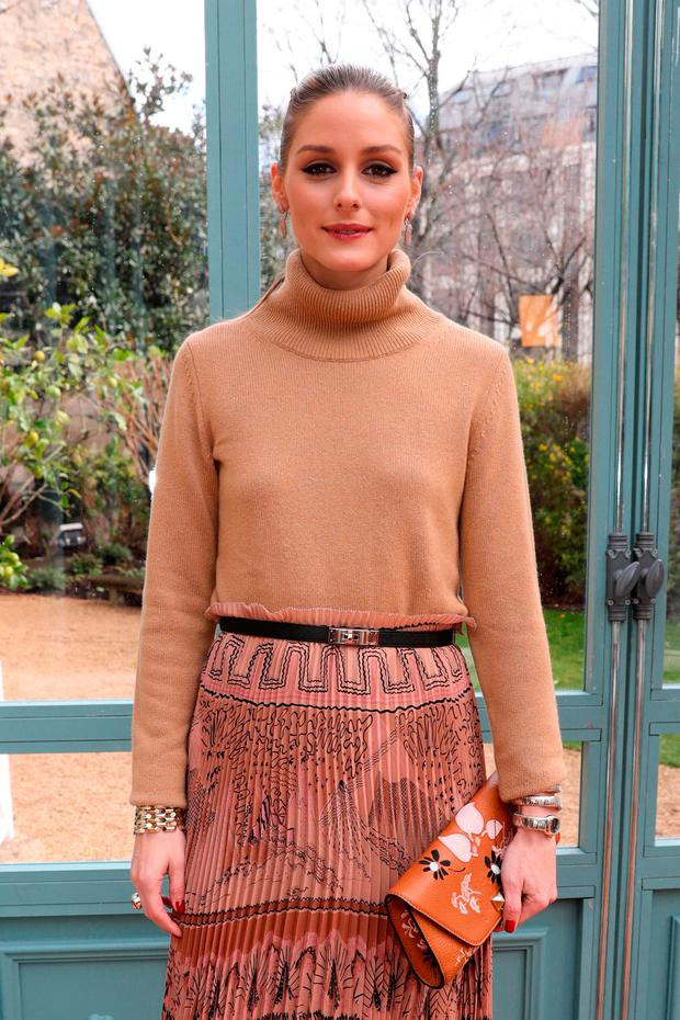 Olivia Palermo attends the Valentino show as part of the Paris Fashion Week Womenswear Fall/Winter 2017/2018 on March 5, 2017 in Paris, France. (Photo by Vittorio Zunino Celotto/Getty Images)