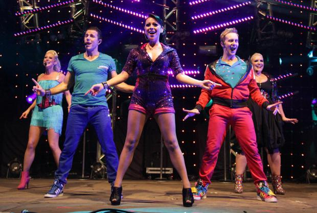 (L-R) Faye Tozer, Lee Latchford-Evans, Lisa Scott-Lee, Ian 'H' Watkins and Claire Richards of Steps perform at Manchester Pride 2012 on August 24, 2012 in Manchester, England. (Photo by Nathan Cox/Getty Images)