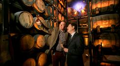 Pictured is Ray Dempsey, General Manager, Jameson Distillery Bow St with Minister for Public Expenditure and Reform and Dublin Central TD Paschal Donohoe in the 'Maturation House' during the official opening of the 'Jameson Distillery Bow St. Photo Chris Bellew/ Fennell Photography.