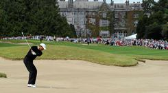 Tiger Woods playing at Adare Manor in 2010
