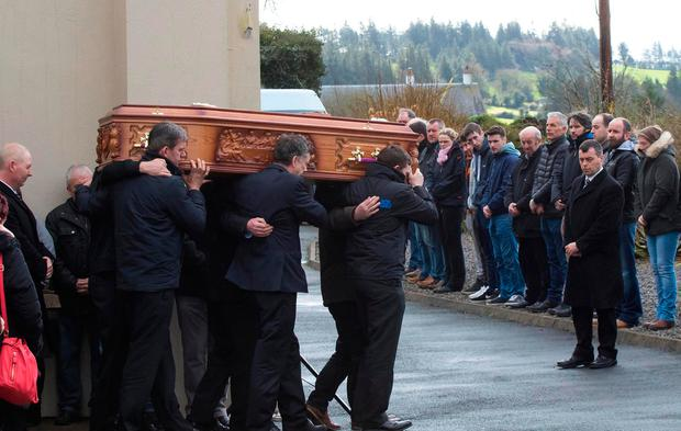 Funeral of Paddy Lyons at Ballysaggart, Co.Waterford. Photo;Mary Browne