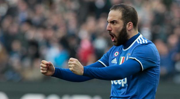 Gonzalo Higuain during Serie A match between Udinese v Juventus, in Udine, on March 25, 2017 (Photo by Loris Roselli/NurPhoto via Getty Images).