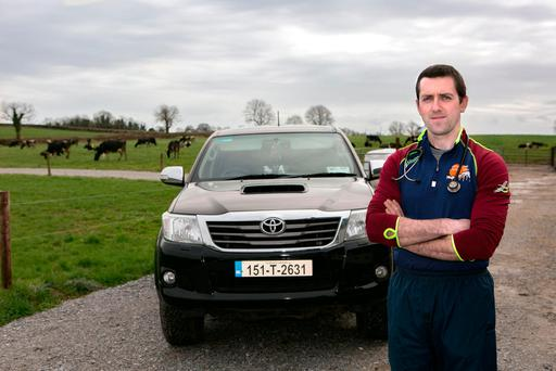 Eamon O'Connell gets ready for another day on the farming beat in Tipperary. Photo: Brian Gavin/Press 22