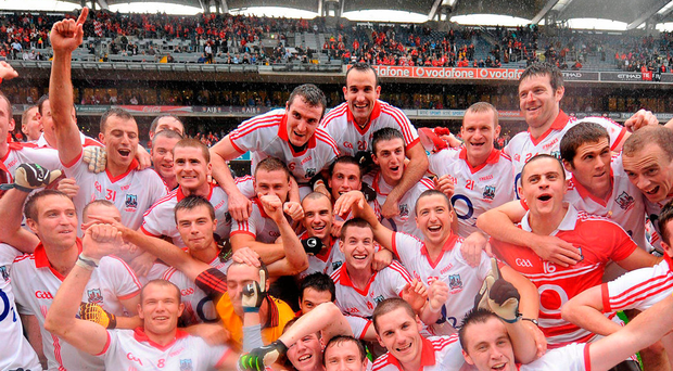 The Cork team celebrate with the Sam Maguire Cup back in 2010, but most of those players have retired and their successors have failed to make a mark. Photo: Sportsfile