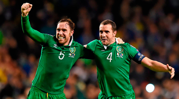 Richard Keogh and John O'Shea