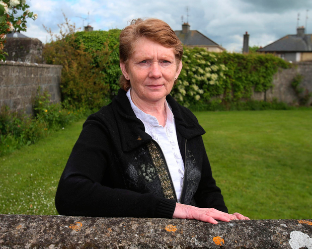 Local historian Catherine Corless at the site of the mass grave of children who died in Tuam Mother and Baby Home in Galway Photo: Niall Carson/PA Wire