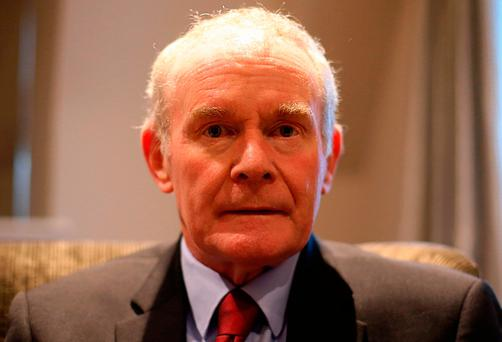 Former deputy first minister Martin McGuinness. Photo: Niall Carson/PA Wire