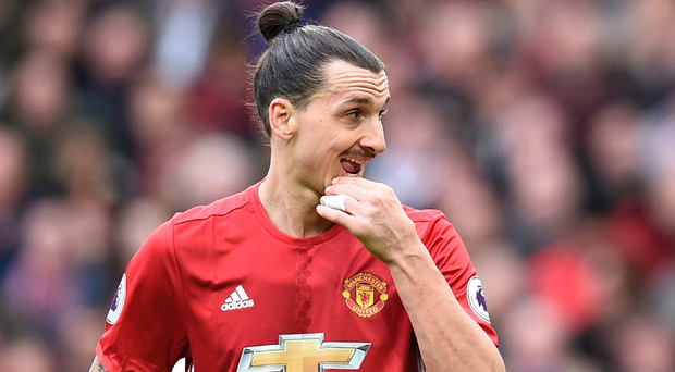 Manchester United's Zlatan Ibrahimovic has been charged with violent conduct by the Football Association Photo: Getty Images
