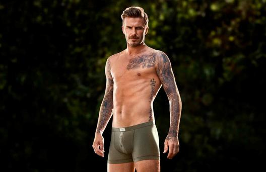 David Beckham has been used by several major brands to promote men's underwear, much of it tight