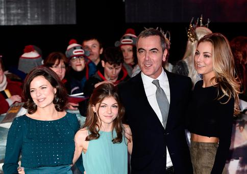 Family first: James Nesbitt lives around the corner from his ex-wife Sonia Forbes-Adam and their daughters Peggy and Mary