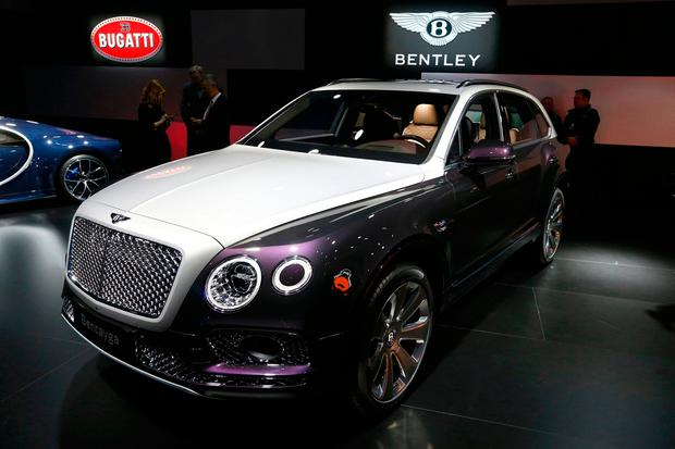 Bentley Bentayga car is seen during the 87th International Motor Show at Palexpo in Geneva, Switzerland, March 6, 2017. REUTERS/Arnd Wiegmann