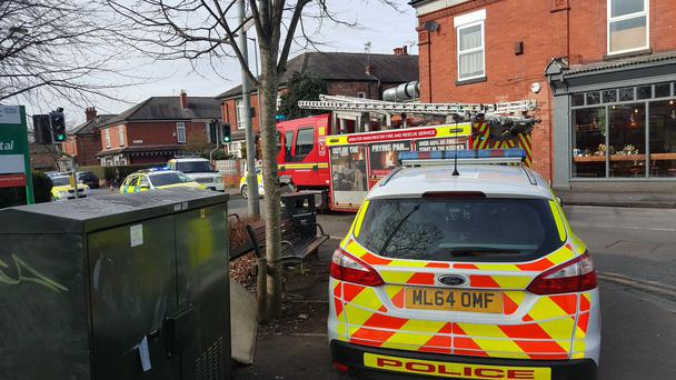 The two women were knocked down at Withington Hospital Pic: Twitter @Spudbass
