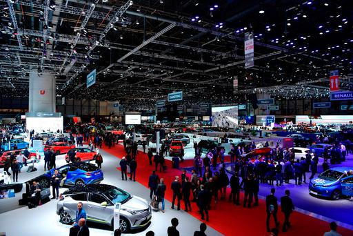 The world's press get a close look at all the new models for 2017 at this year's Geneva Motor Show. Photo: Getty Images
