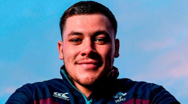 U20 hooker Tadgh McElroy says there is a lot more to come from the Ireland pack. Photo: David Fitzgerald/Sportsfile