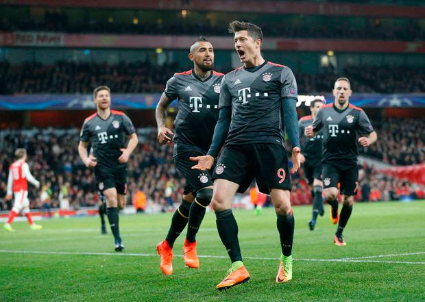 Robert Lewandowski. Pic: AP Photo/Frank Augstein