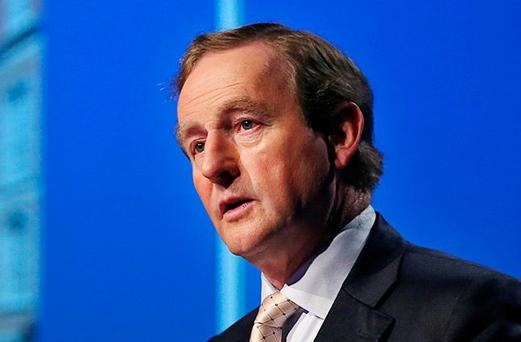 Enda Kenny. Photo: Steve Humphreys