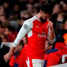 Arsenal's Olivier Giroud after being substituted last night