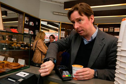 Adrian Weckler tries out Apple Pay to buy coffee at a shop in Dublin city centre