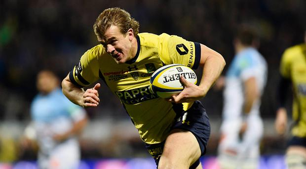 Aurelien Rougerie of Clermont during the French Top 14 match between Clermont and Bayonne at Stade Marcel Michelin on February 18, 2017 in Clermont-Ferrand, France. (Photo by Romain Lafabregue/Icon Sport)
