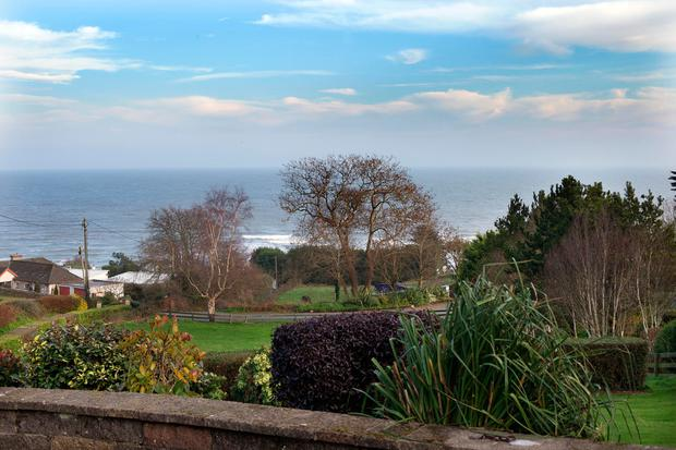 The view of Brittas Bay from Emma Lynch's bungalow, which dates from the 1950s and used to belong to her grandparents