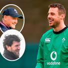 Tommy Bowe and (inset) Schmidt and Horgan