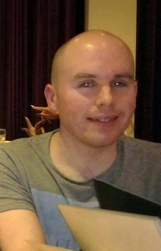 A Family Picture of Karl Robertson [28] from Castlekevin Road who was seriously injured in a hit and run on Hazelwood Drive, Kilmore, Coolock. Photo: Frank Mc Grath