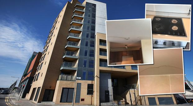 An apartment complex in Dublin which is advertising one and two-bed apartments for sale - some of which are water damaged - received interest from over one thousand prospective buyers, an estate agent said.
