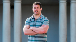 Sean O'Brien in relaxed mood ahead of Ireland's Six Nations clash with Wales. Photo by Matt Browne/Sportsfile