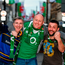 Ireland supporters, from left, Alan Ryan, Declan Doogan and Benny Guinan, all from Laois, pictured in Cardiff ahead of the Six Nations match between Ireland and Wales. Photo by Stephen McCarthy/Sportsfile