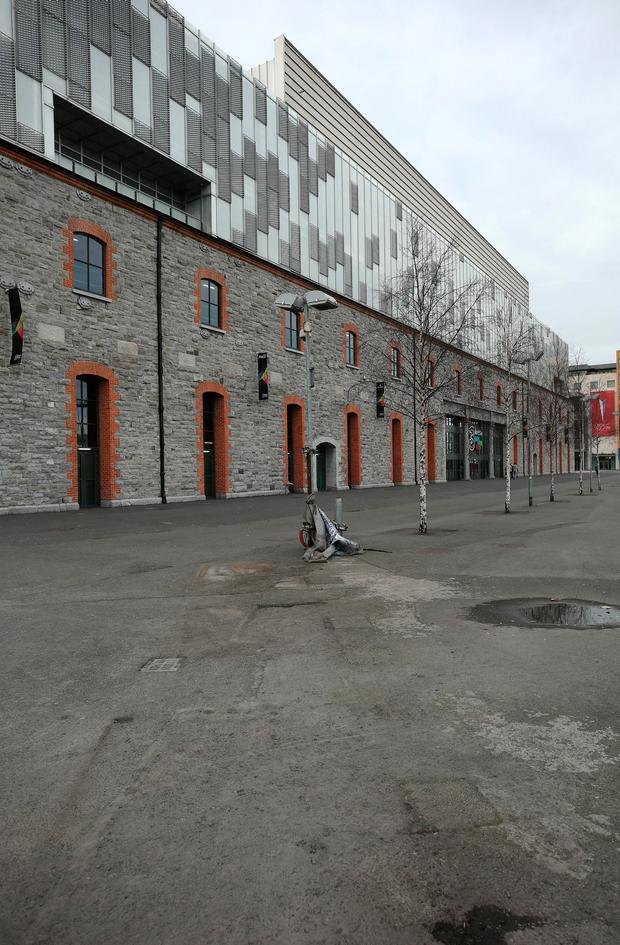 How the front of the arena looks after they were removed by Nama receivers Picture: Damien Eagers