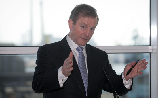 'On the domestic front, Enda Kenny must now decide how he tells not only his own party but also the country when he intends to step down as Taoiseach and leader of Fine Gael.' Photo: Gareth Chaney Collins