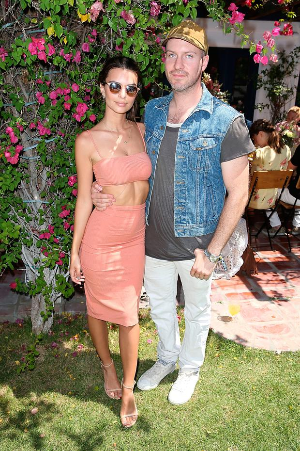 Emily Ratajkowski and Jeff Magid attend the #Chillchella brunch hosted by Bai beverages, Dannijo, Same Swim and Diane von Furstenberg on April 16, 2016 in Thermal, California. (Photo by Joe Scarnici/Getty Images for Bai)