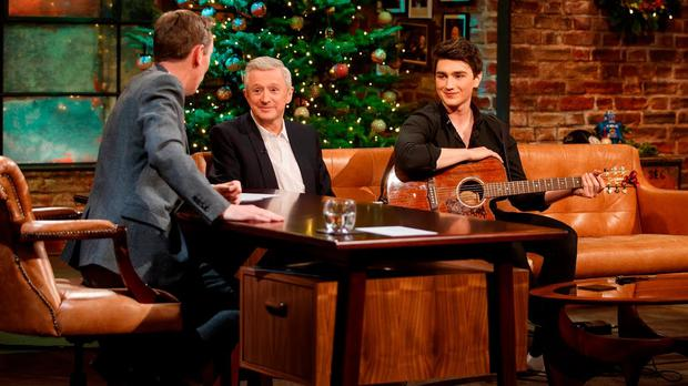Louis Walsh and Brendan Murray appear on the Late Late Show