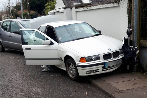 Scene on Blackrock Road, Cork, where a car crashed into a baby's buggy injuring it's skull Pic from Provision