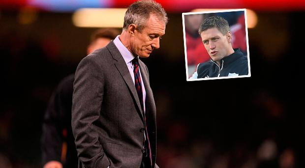 Wales coach Rob Howley and (inset) Ronan O'Gara