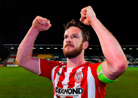 Derry City players mourn loss of captain Ryan McBride
