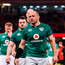 Ireland captain Rory Best and his team react after the RBS Six Nations Rugby Championship match between Wales and Ireland at the Principality Stadium