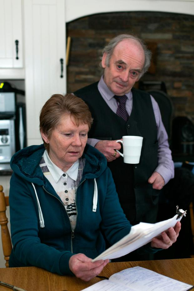 Local historian Catherine Corless with her husband Aidan. Ms Corless's research led to the discovery of the unmarked grave at the site of the former mother and baby home in Tuam, Co Galway. Photo: Andy Newman