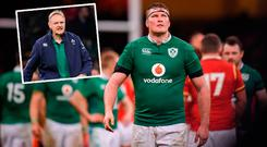 Donnacha Ryan dejected and (inset) Joe Schmidt
