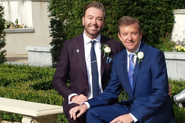 Alan Hughes and Karl Broderick married in a secret ceremony in September