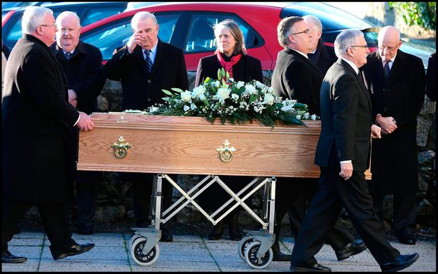 Connolly's funeral. Photo: Steve Humphreys