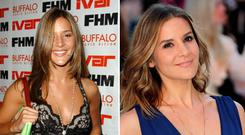 Amanda Byram, pictured here in 2003 and in 2017, said she was really hard on herself when she was younger.
