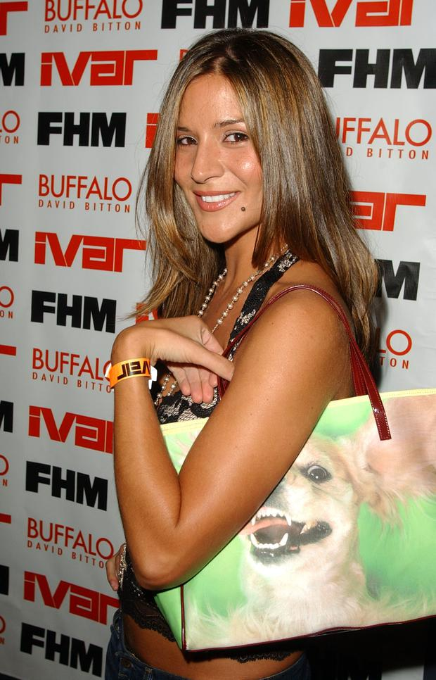 Amanda Byram pictured in 2003 at the beginning of her career in the US