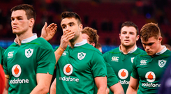 Conor Murray, second from left, and his Ireland team-mates, including Jonathan Sexton, Robbie Henshaw and Garry Ringrose
