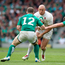 Mike Tindall prepares to take on Gordon D'Arcy during England's 2011 clash in Dublin, Photo: David Rogers/Getty Images
