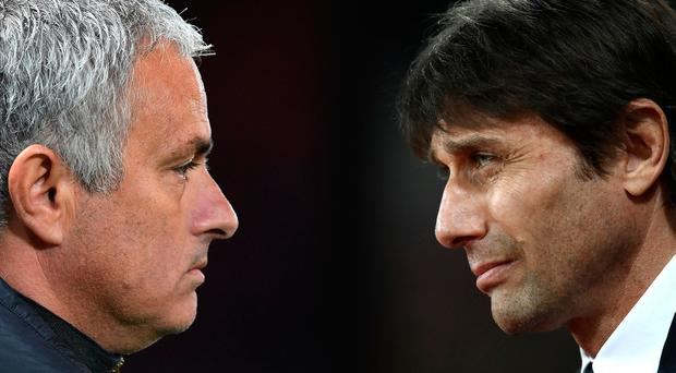 There will be no love lost when Jose Mourinho and Antonio Conte go head-to-head tonight. Photo: Getty Images