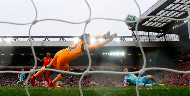 Ashley Barnes fires Burnley into an early lead. Photo: Reuters / Phil Noble