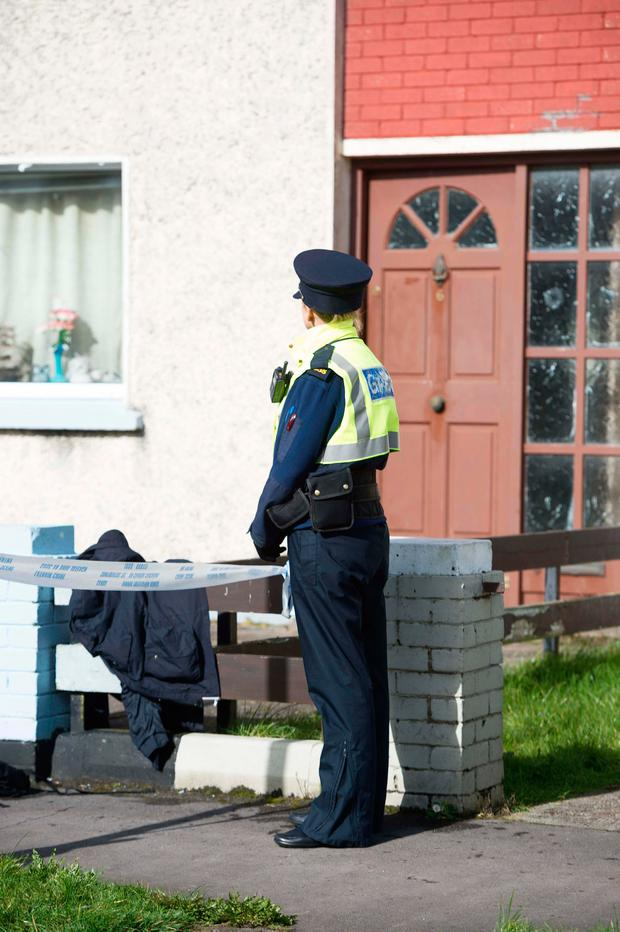 Gardaí are investigating an assault with a knife at a house on Cardinal Cushing Road, Mervue, Co Galway, in which Christopher McGrath was stabbed to death Picture: Andrew Downes / xposure