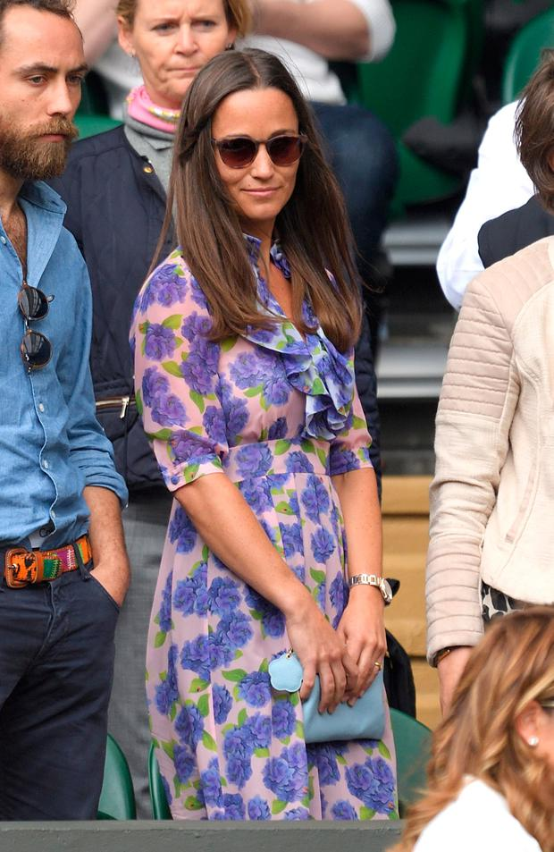 Pippa Middleton attends day eleven of the Wimbledon Tennis Championships at Wimbledon on July 08, 2016 in London, England. (Photo by Karwai Tang/WireImage)
